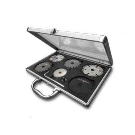 RACER fűrészlap készlet - 6 fürészlap alumínium hordtáskában